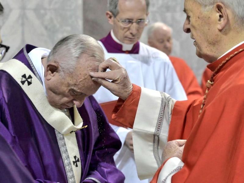 Papa Francisco preside la misa del miércoles de ceniza