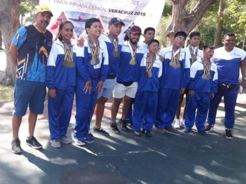 Paralímpicos tuxpeños logran 28 medallas en competencia estatal