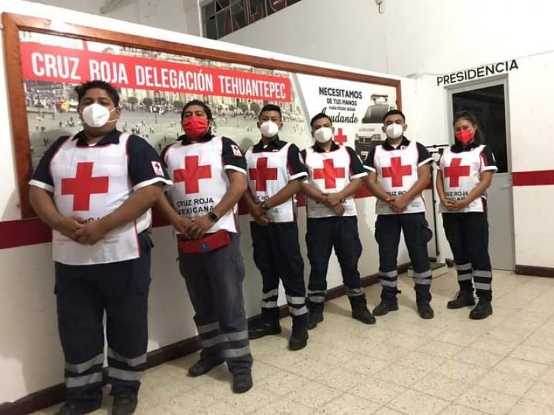 Paramédicos de Tehuantepec se trasladan a Tabasco ante contingencia