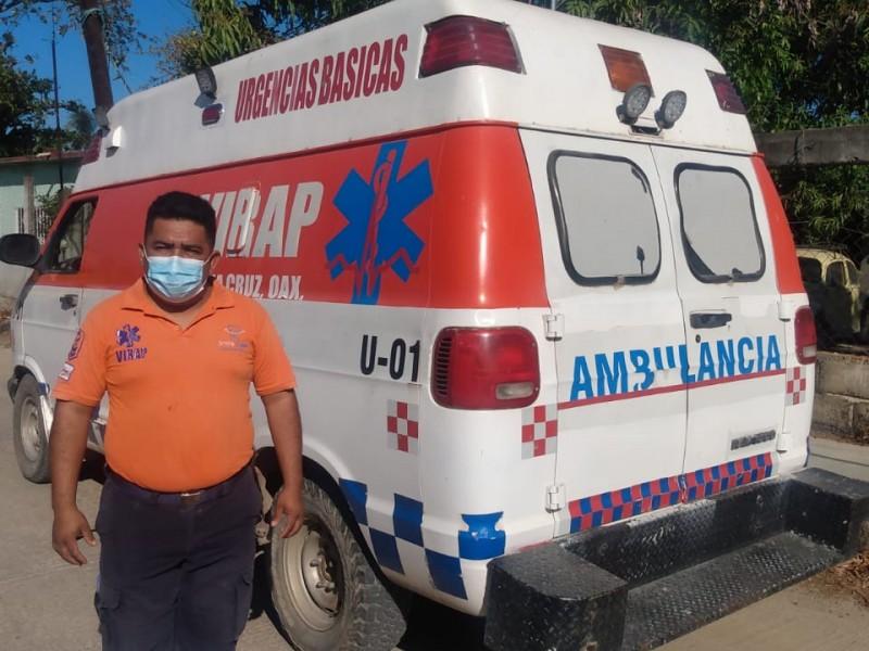 Paramédicos piden ser considerados para vacuna Covid en Oaxaca