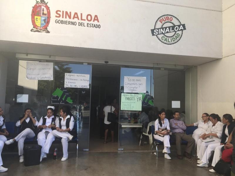 Paran labores en Hospital General en Los Mochis