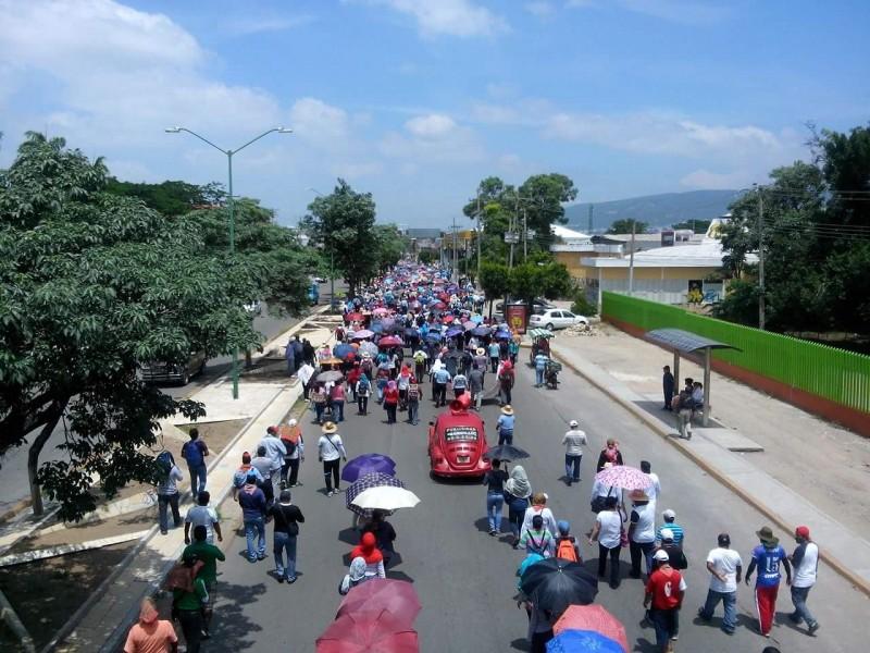 Paro de maestros en Chiapas