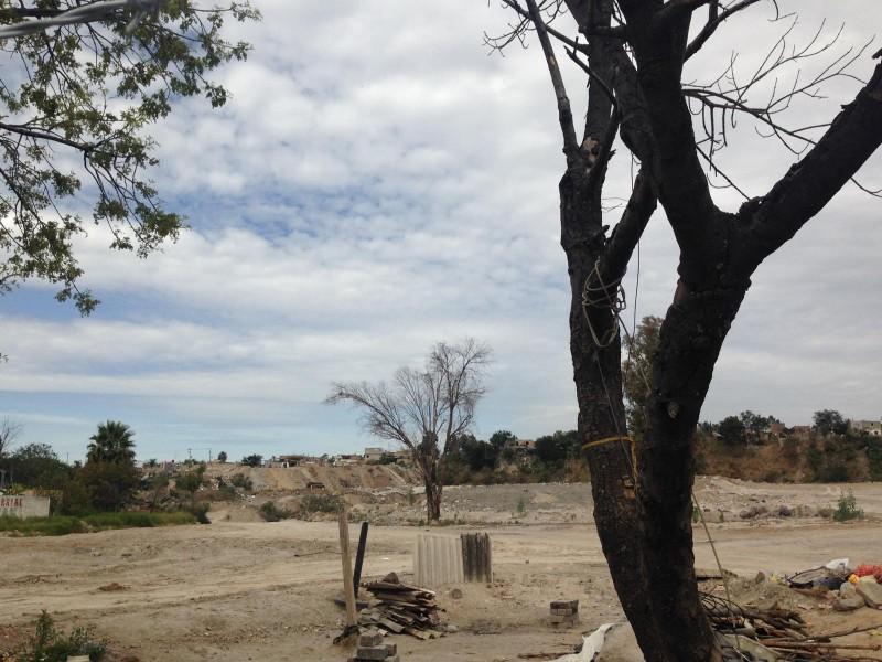 Parque El Hoyanco, desolado y sin obras