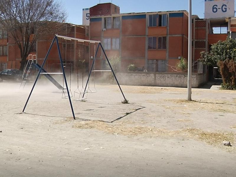 Parque en malas condiciones en Infonavit San Ramón