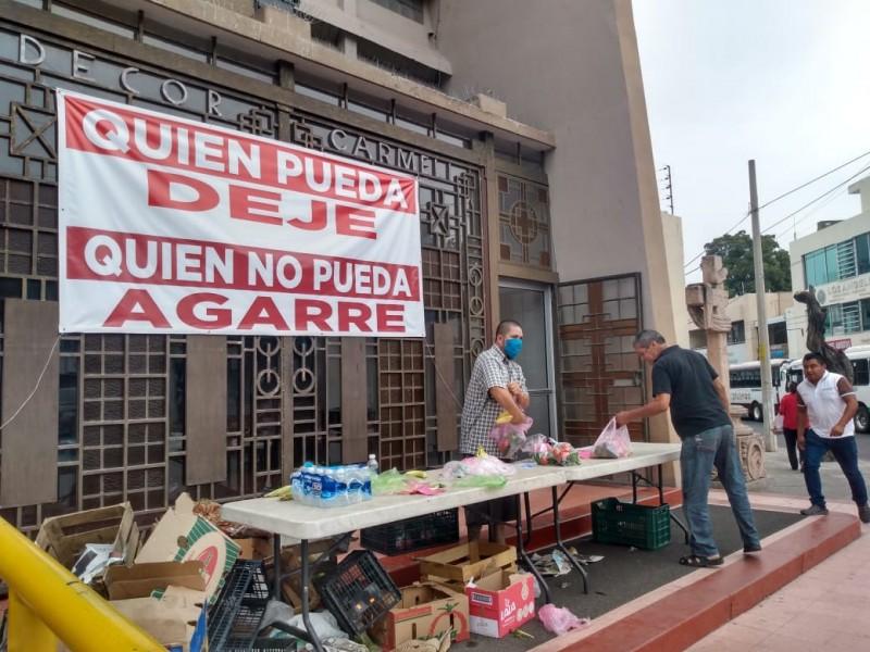 Parroquia del Carmen donará despensas durante la contingencia