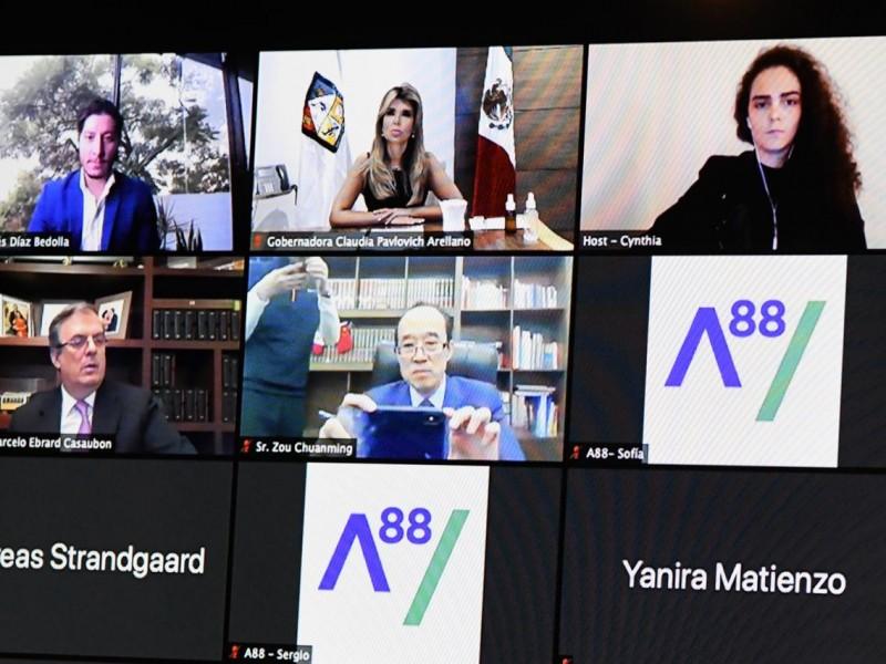 Participa Gobernadora Pavlovich en foro 88 líderes