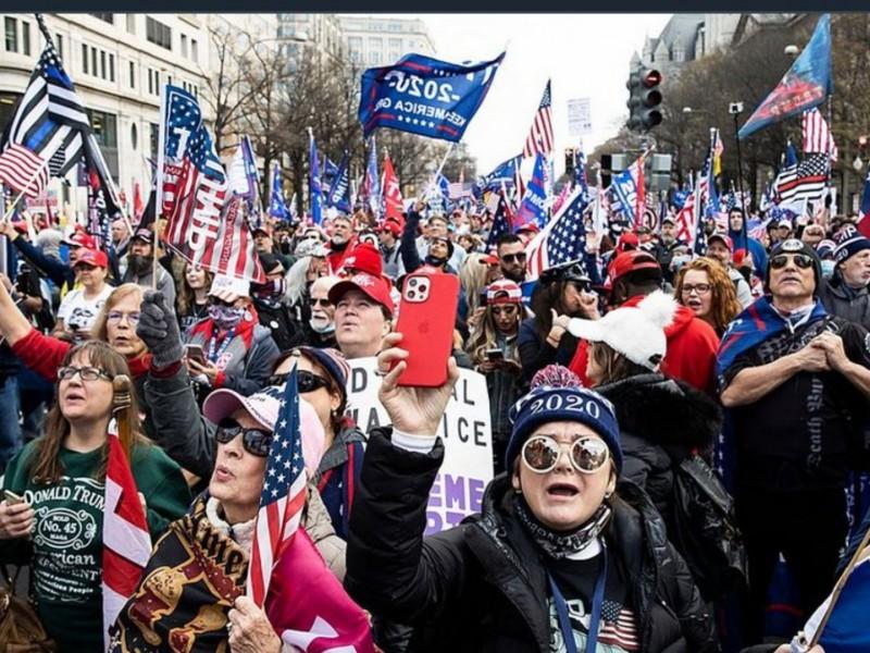 Partidarios de Trump se manifiestan en Washington D.C.