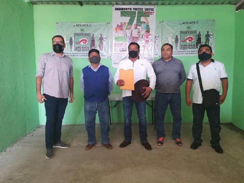 Partido Unidad Popular define candidato en Tehuantepec; David Ricardez
