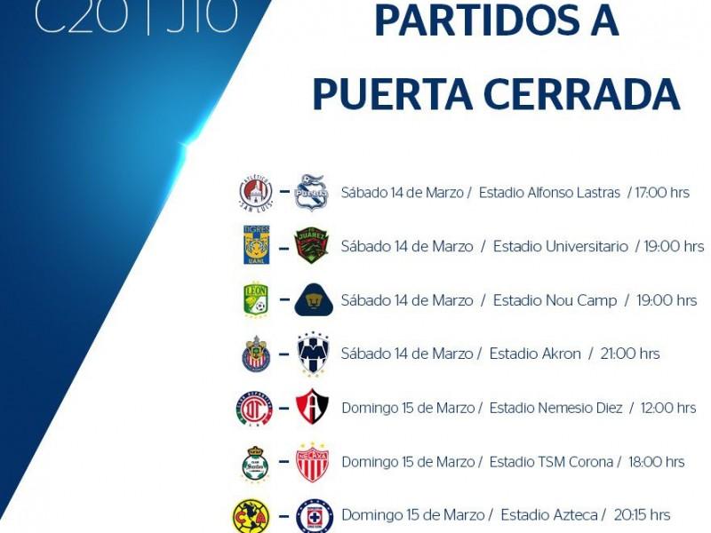 Partidos Liga MX, a puerta cerrada por Covid19