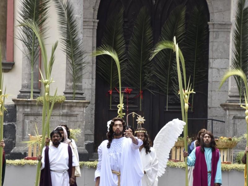 Pasión de Cristo a puerta cerrada con buena audiencia