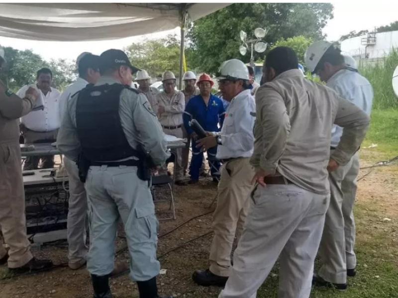 PEMEX atiende fuga de gas en Chiapas