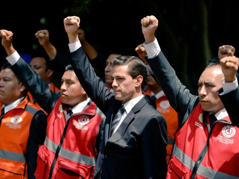 Peña Nieto participó en el macrosimulacro nacional