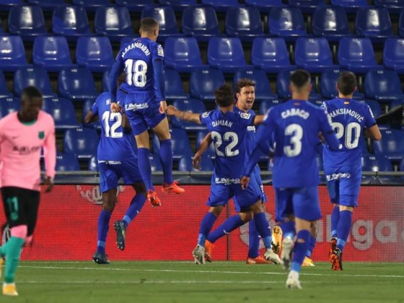 Perdió el otro grande en España; Getafe 1-0 Barcelona