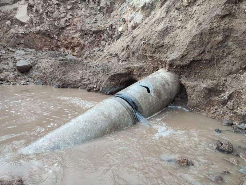 Perforación en el Acuaférico sur provoca nuevo desabasto de agua