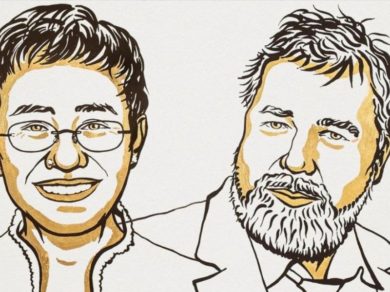 Periodistas Ressa y Muratov ganan el Nobel de la Paz