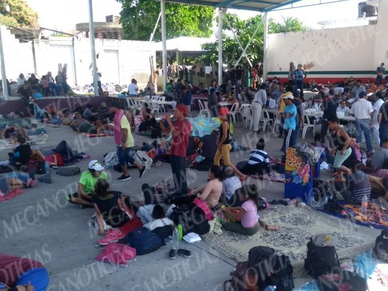 Permanece Caravana de Migrantes en territorio Oaxaqueño