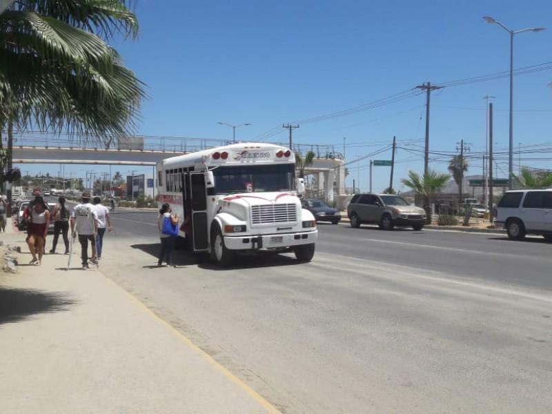 Permanente vigilancia por parte de transporte municipal
