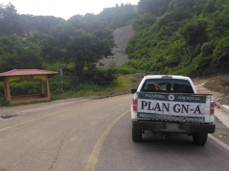 Persiste cierre de carretera en La Unión por socavón