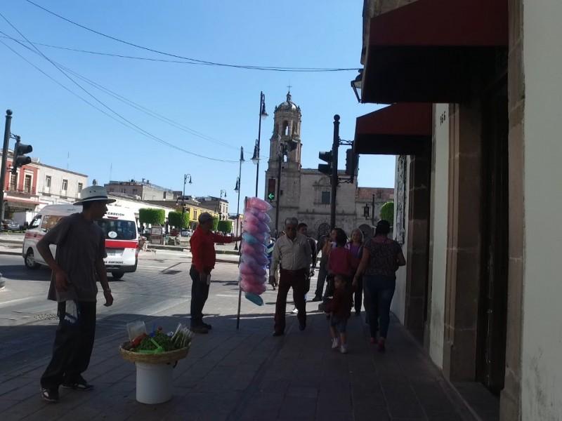 persisten ambulantes en centro de Morelia