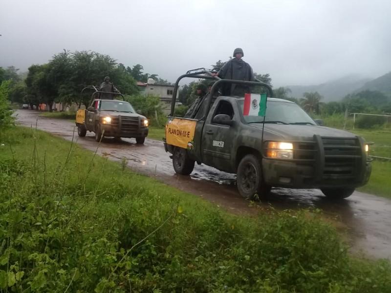 Personal militar realiza recorridos para detectar afectaciones