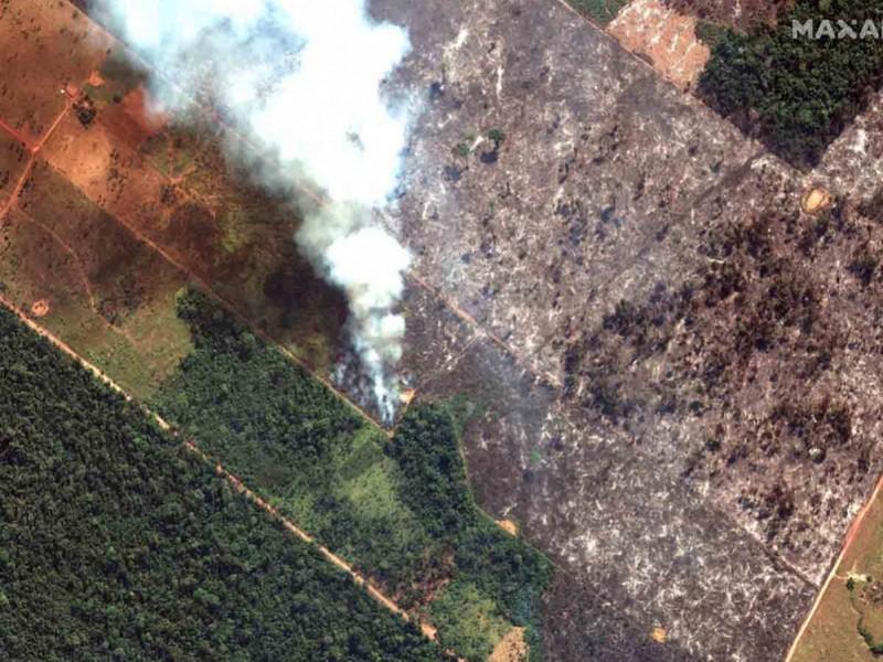 Perú en alerta por incendio en el Amazonas