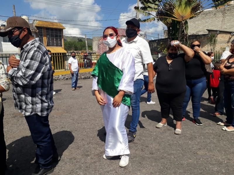 Pese a contingencia decenas de feligreses visitan templo San Judas