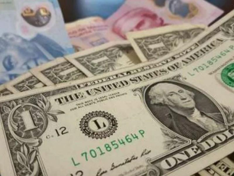 Peso cae y dólar se cotiza en 20 unidades