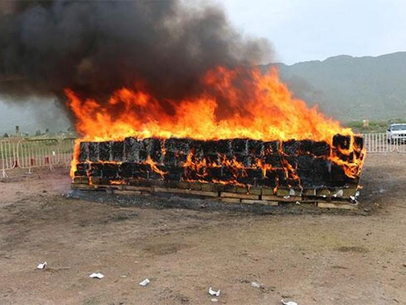 PGR incinera 800 kilogramos de drogas en Chihuahua