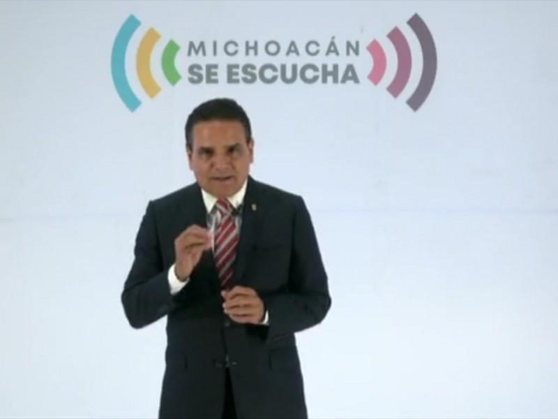 Pide gobernador de Michoacán ayuda a AMLO para pagar maestros