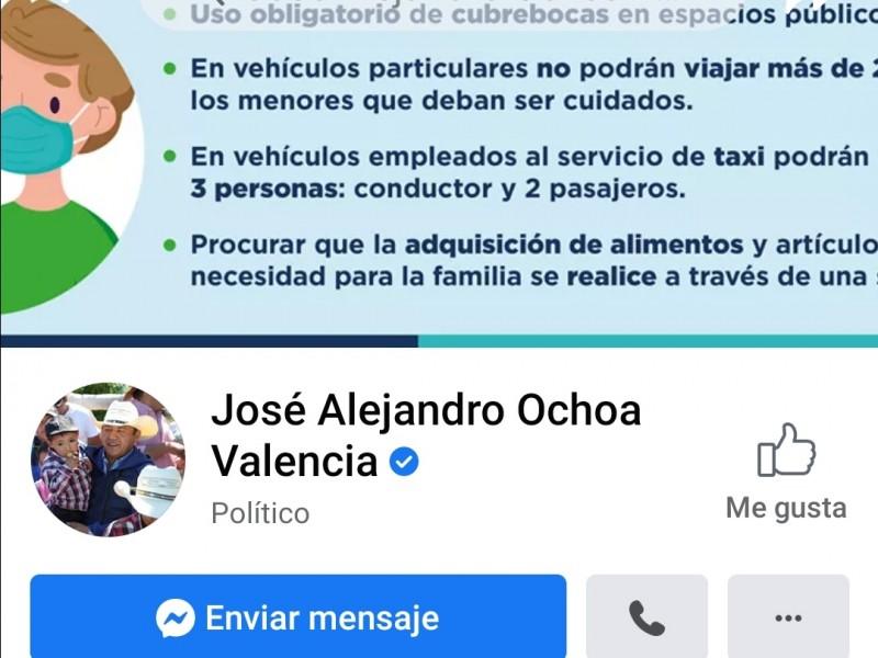 Pide IEEQ a edil de Colón retirar publicaciones de Facebook