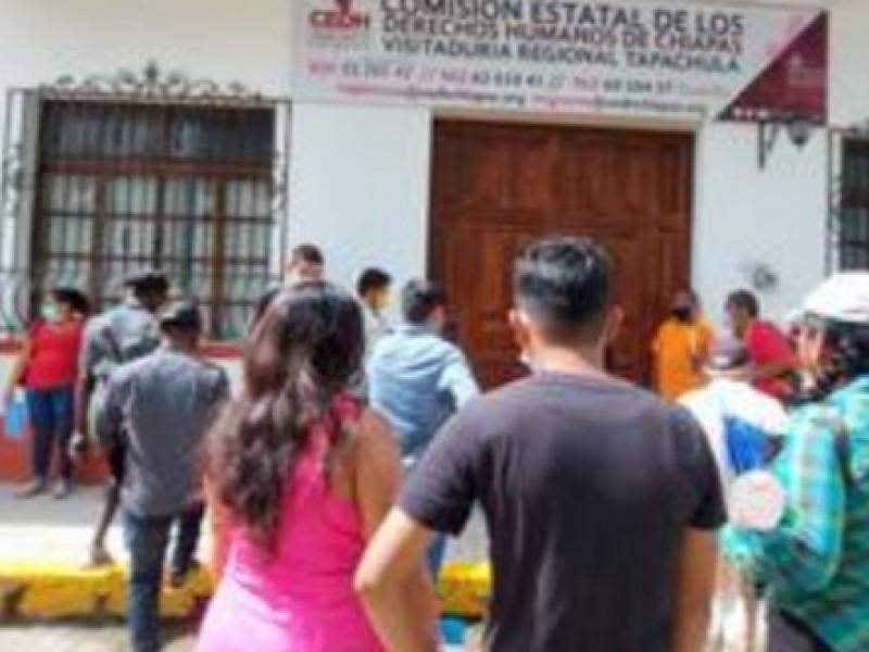 Piden a policías de Tapachula respetar derechos humanos de migrantes