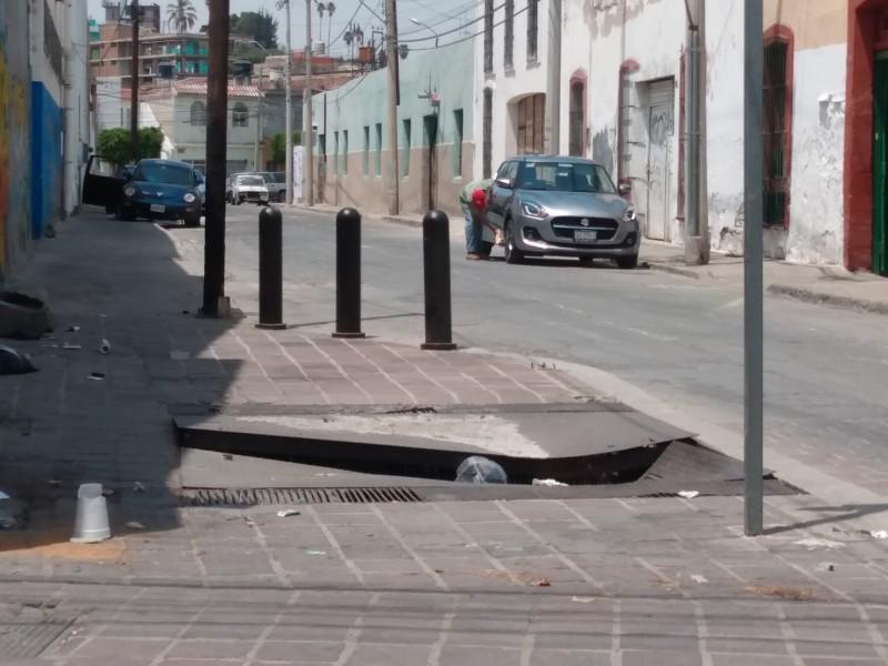 Piden apoyo para reparar registro de CFE en Barrio Arriba