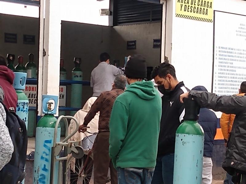 Piden ciudadanos apoyo para tanques de oxígeno