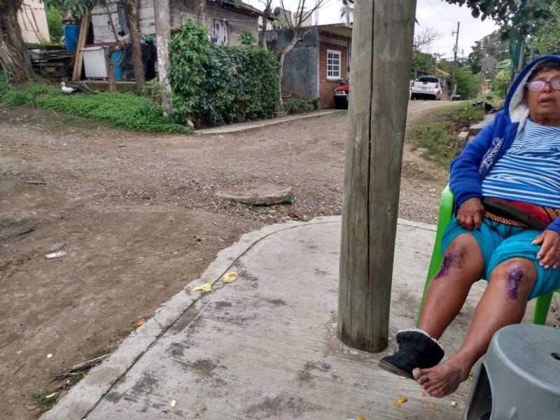 Piden rehabilitación de calles en la Vicente Guerrero