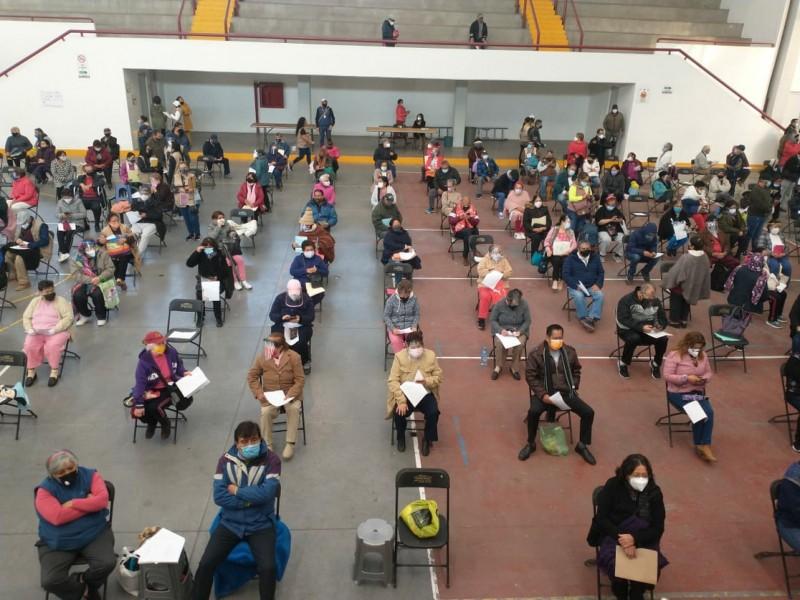 Piden vacunarse con cita en Ecatepec, para evitar aglomeraciones