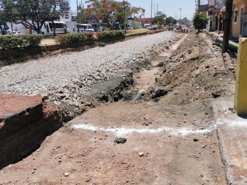 Pierden 50% de clientes comerciantes por construcción de boulevard