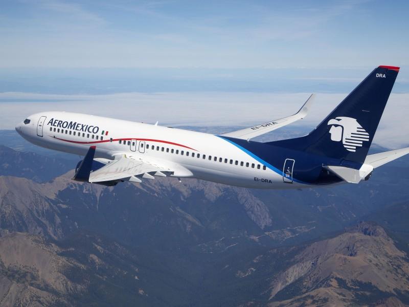 Pilotos de Aeroméxico recortan su salario ante contingencia de covid-19
