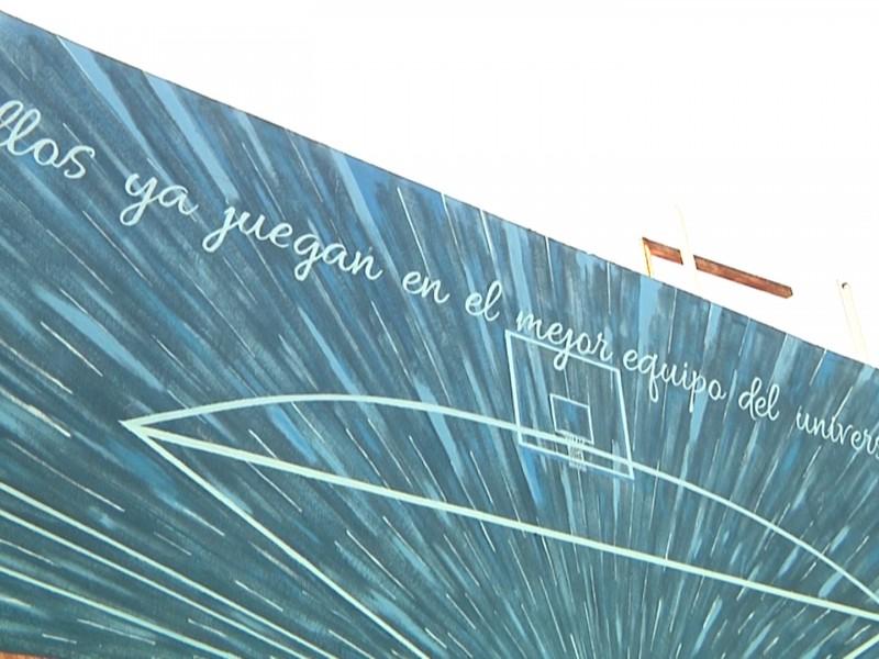 Pintan mural a deportistas de la colonia Cuauhtémoc