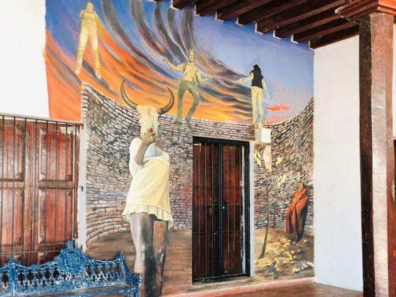 Pintorescos murales embellecen la Villa de Ahome