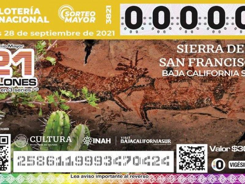 Pinturas rupestres sudcalifornianas llegan hasta billete de la Lotería Nacional
