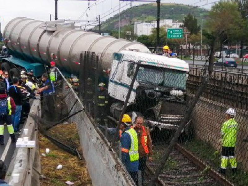 Pipa choca contra línea A del Metro