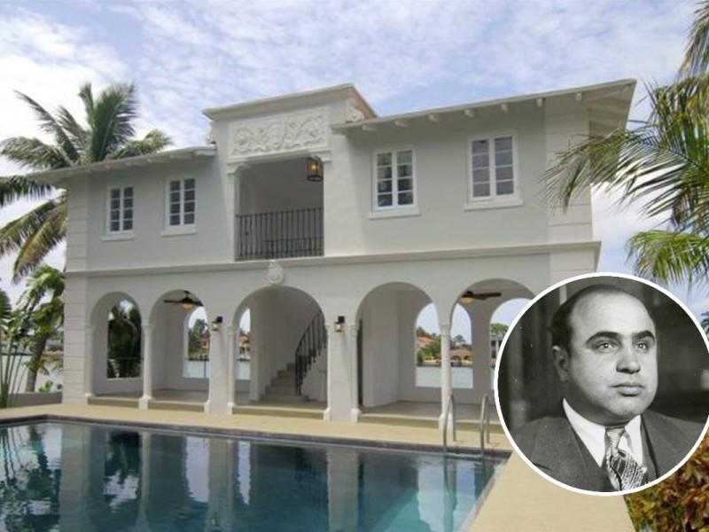Planean demoler la mansión donde murió Al Capone en Miami