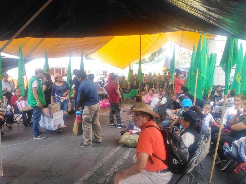 Plantón indefinido de campesinos chiapanecos piden presupuesto
