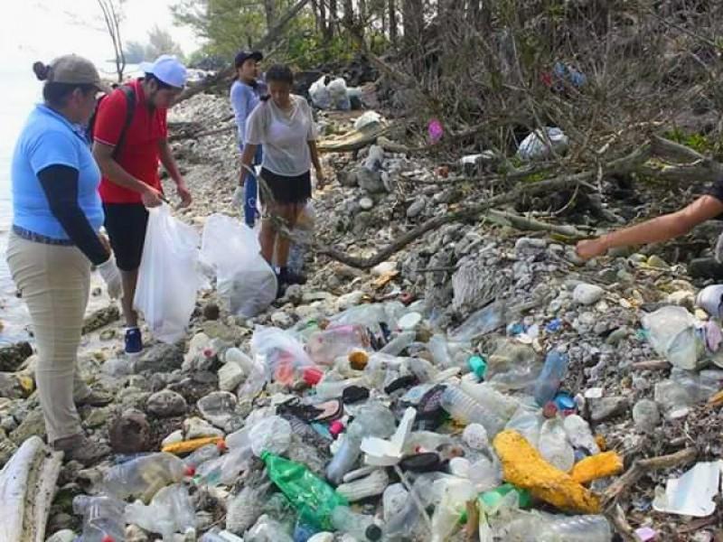 Plástico, lo que más llega a Lobos-Tuxpan