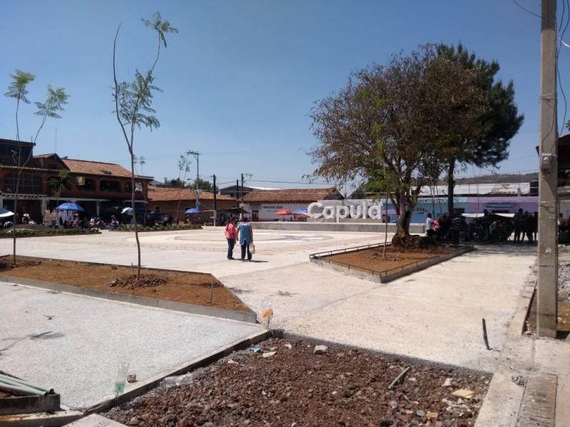 Plaza de Capula no presenta retraso en rehabilitación