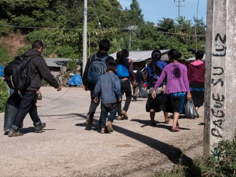 Pobladores desplazados de comunidades de Chenalhó retornan a sus comunidades