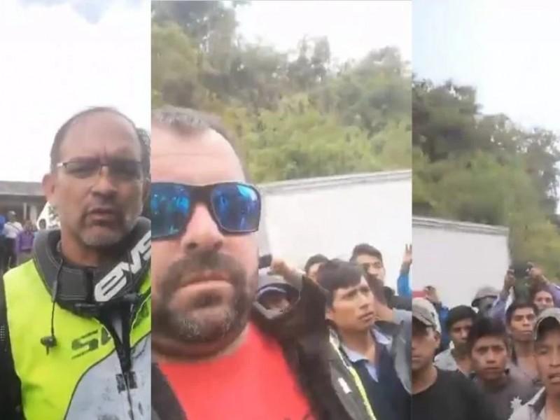 Pobladores retienen a turistas en Oxchuc, demandan apoyos