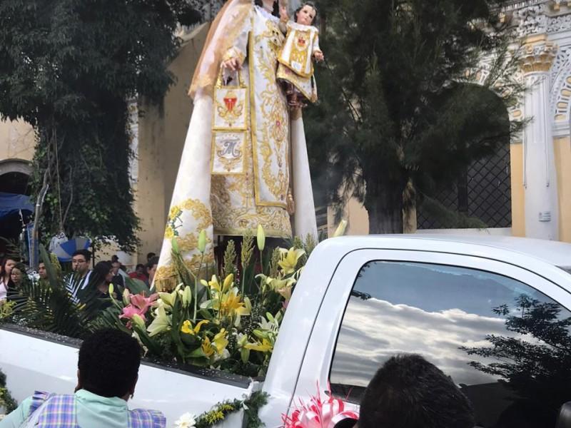 Poblanos celebran a la Virgen de la Merced