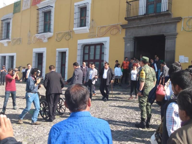 Poblanos llevan a cabo Macrosimulacro por sismo 19S