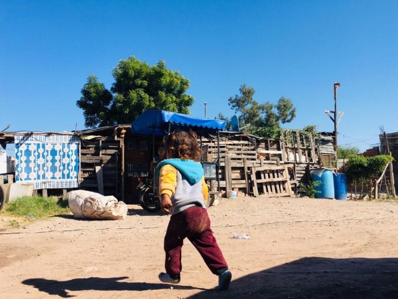 Pobreza y marginación viven habitantes en la Colonia Diana Laura.